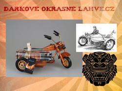 Dárková láhev motorka