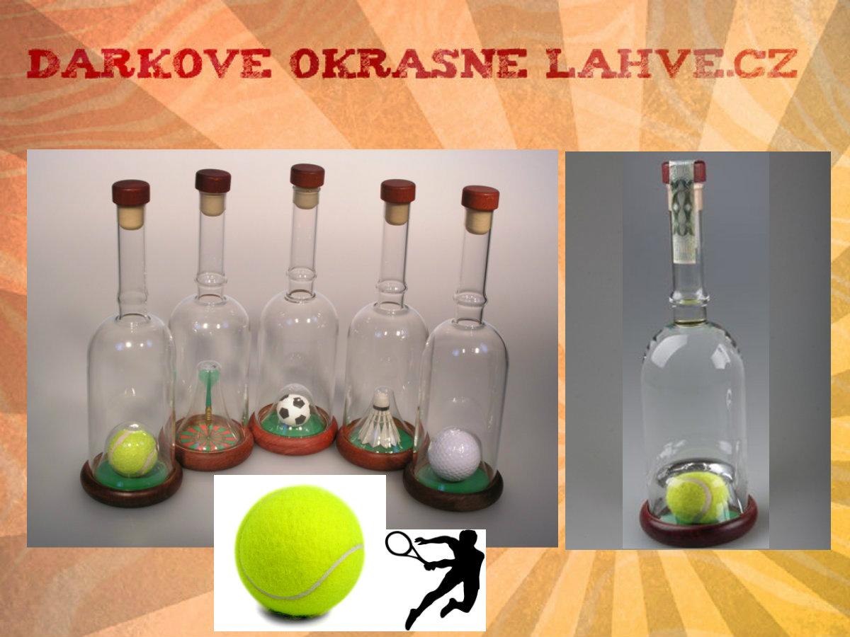 Dárková láhev tenis