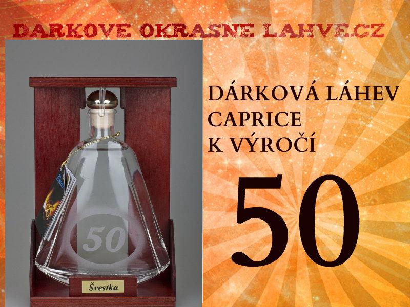 Dárková láhev caprice s číslem 50