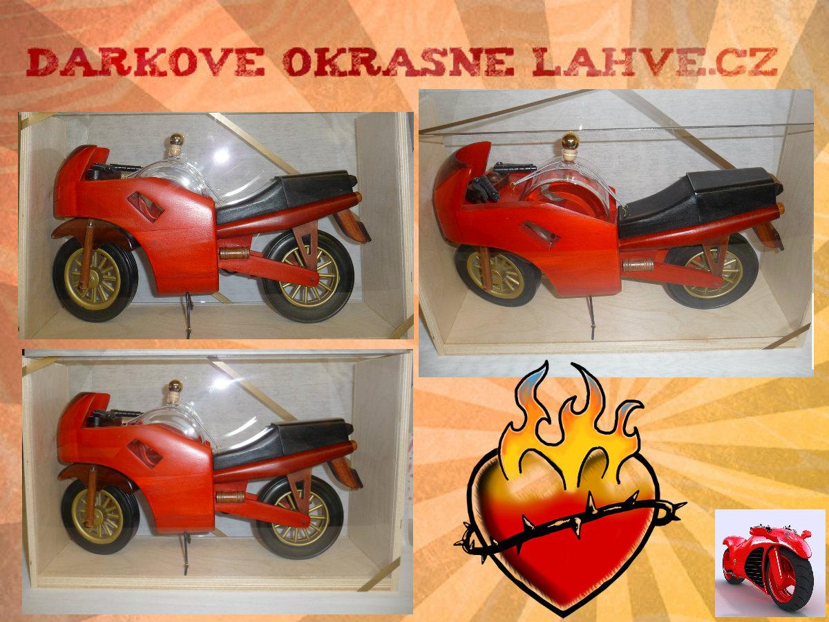 Dárková láhev motorka obří