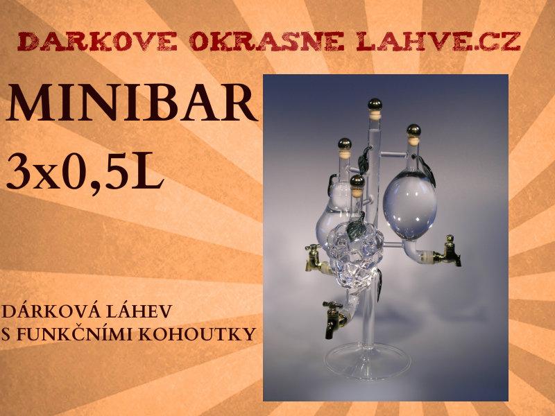Dárková láhev Obří minibar s kohoutk