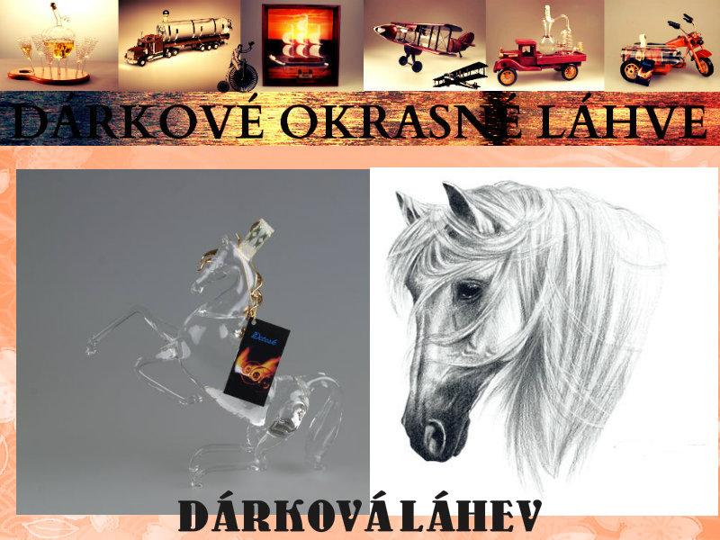 Dárková láhev Kůň