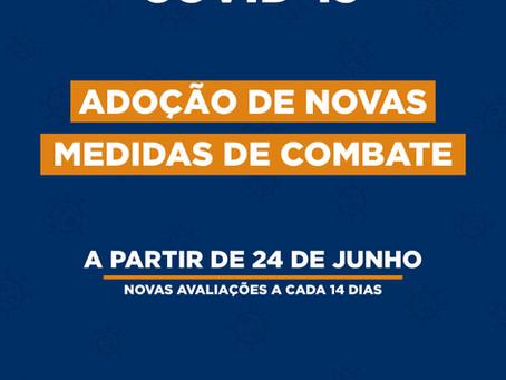 COVID-19 - Adoção de Novas Medidas de Combate