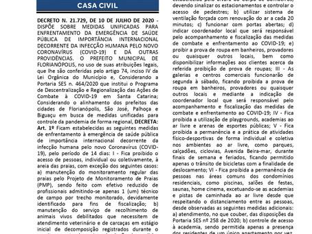 Enfrentamento da COVID-19 - Diário Oficial Eletrônico (PMF)