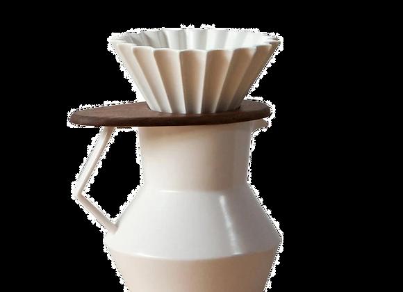 WhiteCeramicPour Over Coffee Set