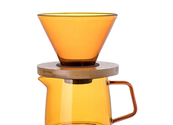 Glass Pour Over Coffee Set in Orange