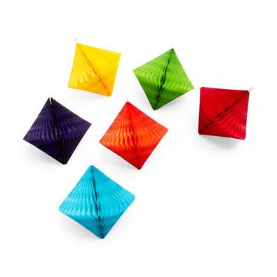 MoMA - Honeycomb Diamond Ornament Set