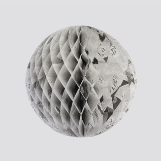 Tiffany & Co - Newspaper Print Honeycomb Ball