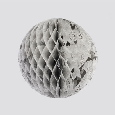 Tiffany & Co - Newspaper Print Honeycomb Ball