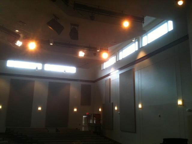 Bemus Point United Methodist Church -  Solar-powered Blackout Shades