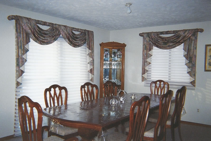 Various Valances, Shades and Blinds