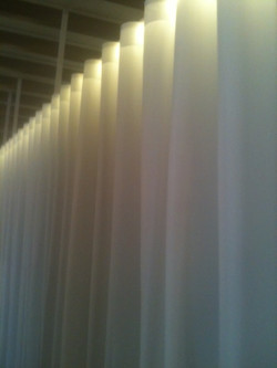 The Statler Arms - Curtains with Lighted Track