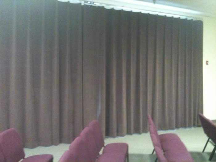 Serpentine-pleated Velvet Curtains