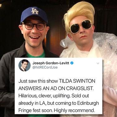 """Byron Lane"" ""Tom Lenk"" Tilda Swinton Answers An Ad On Craigslist"