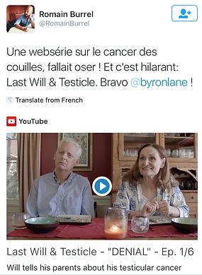 Last Will & Testicle Romain Burrel