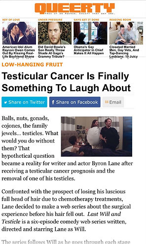 Byron Lane Queerty Last Will And Testicle