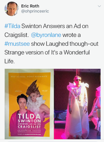 Tilda Swinton Answers An Ad On Craigslist
