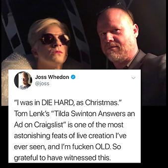 """Joss Whedon"" ""Byron Lane"" ""Tom Lenk"" Tilda Swinton Answers An Ad On Craigslist"