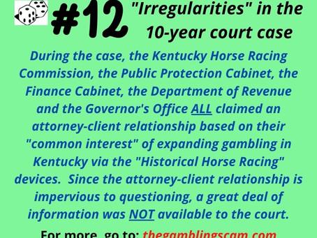 Irregularities #12 to 18 - Facebook Posts