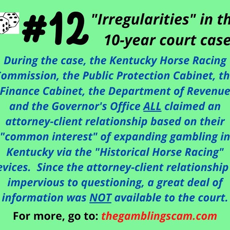 Irregularities #12 to 18 - Facebook Posts