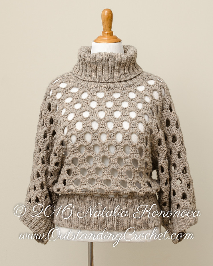 Outstanding Crochet New Instructions Are Added To Cowl Neck Sweater