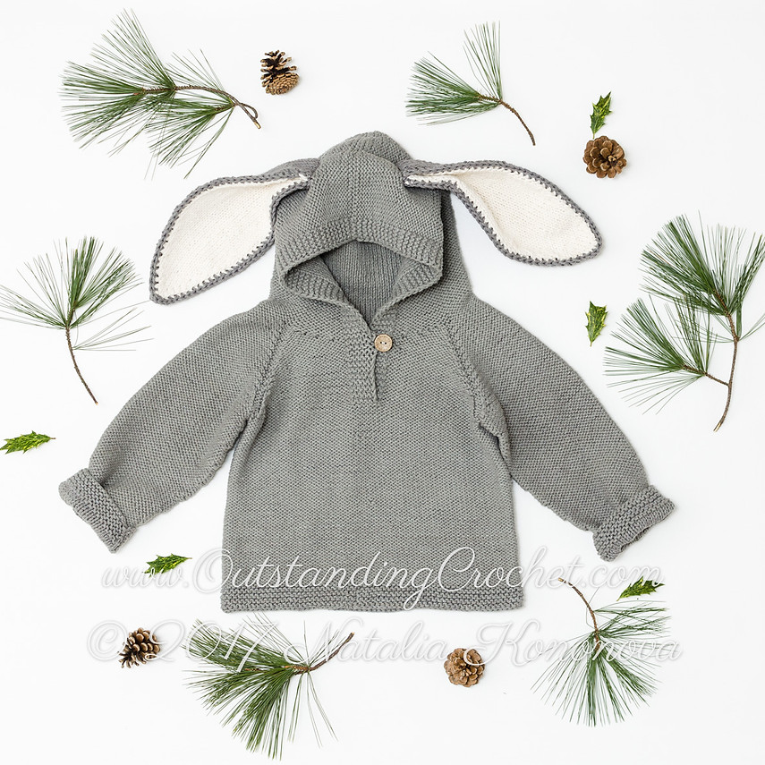 Outstanding Crochet: Kids Bunny Ears Hoodie Knit Pattern added!