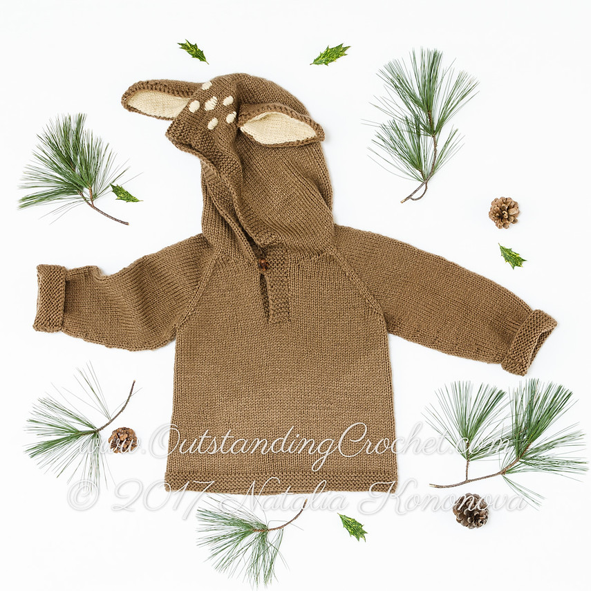 Baby Knitting Pattern Hoodie With Ears : Outstanding Crochet: New: Kids baby Deer Ears Hoodie Knit ...