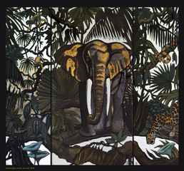"triptyque ""mysterieuse jungle"""