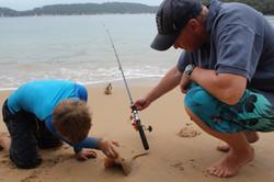 Catching stingrays!