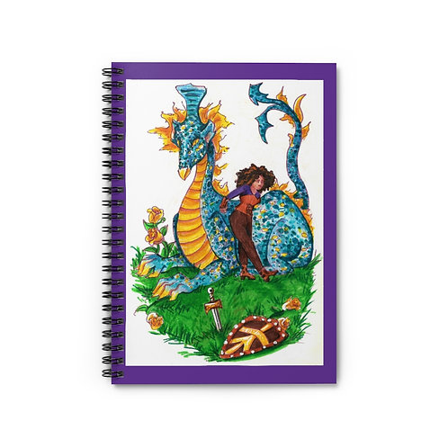 Vanessa and the Flightless Dragon, Spiral Notebook - Ruled Line