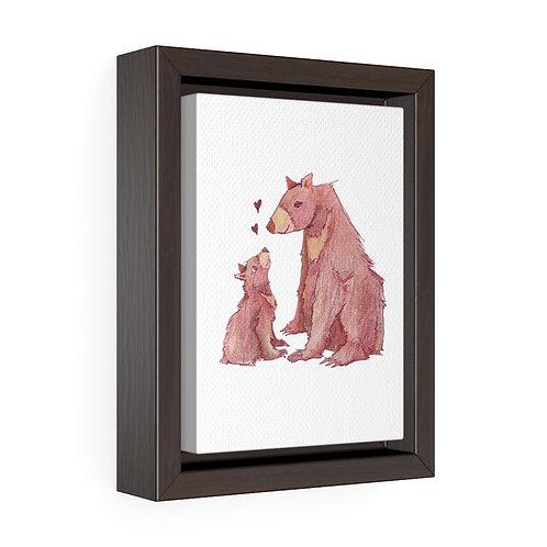 Mamabear, Vertical Framed Premium Gallery Wrap Canvas
