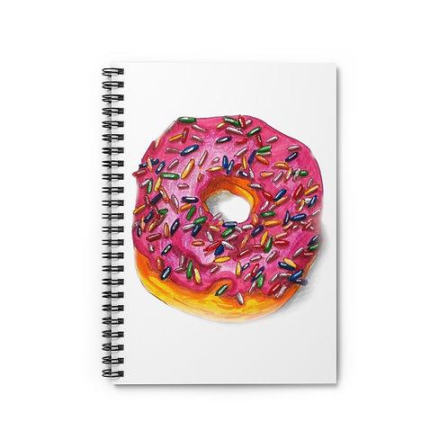 Donut, Spiral Notebook - Ruled Line