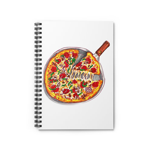 Pizza, Spiral Notebook - Ruled Line