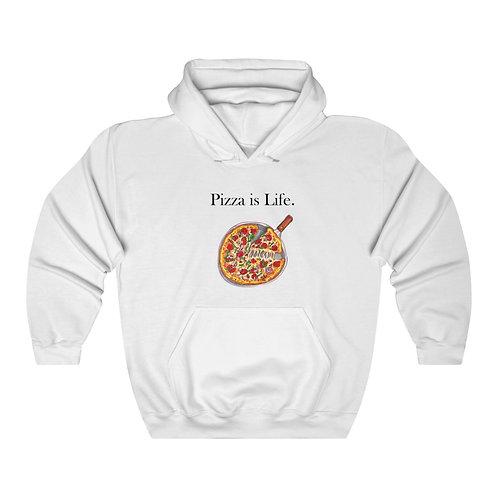 Pizza is Life, Unisex Heavy Blend™ Hooded Sweatshirt