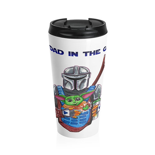 Best Dad in the Galaxy, Stainless Steel Travel Mug