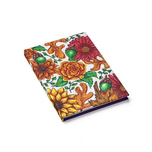 Fall Flowers, Sketchbook, Blank Journal