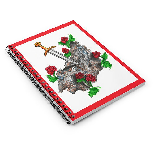 Sword in the Stone, Spiral Notebook - Ruled Line