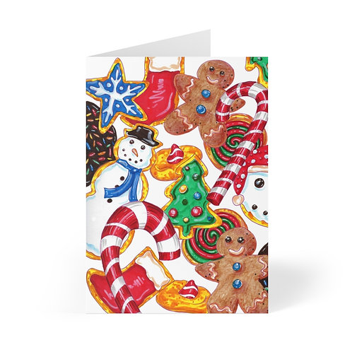 Holiday Cookies, Greeting Cards (8 pcs)