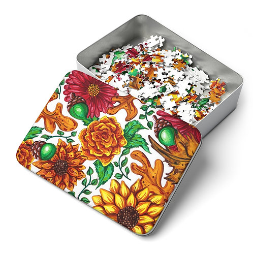 Fall Flowers Puzzle, 252 Pieces