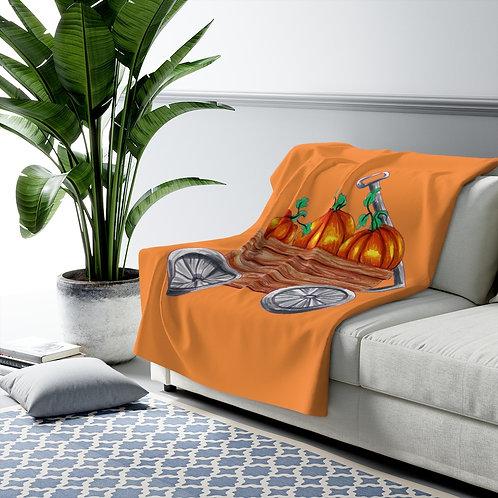 Pumpkin Wagon, Sherpa Fleece Blanket