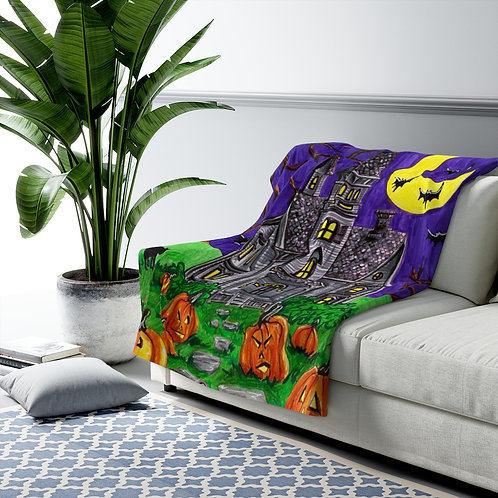 Haunted House, Sherpa Fleece Blanket
