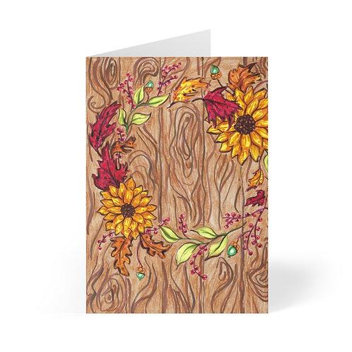 Fall Wreath, Greeting Cards (8 pcs)