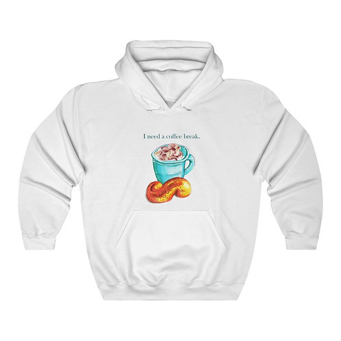 I need a coffee break, Unisex Heavy Blend™ Hooded Sweatshirt