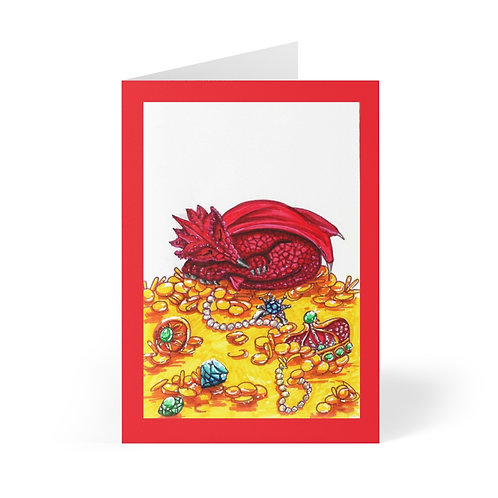 Sleepy Smaug, Greeting Cards (8 pcs)