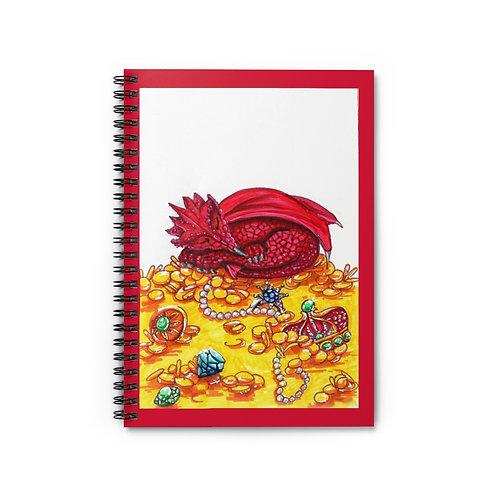 Sleepy Smaug, Spiral Notebook - Ruled Line