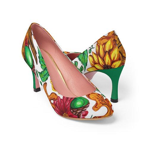 Fall Flowers, Women's High Heels