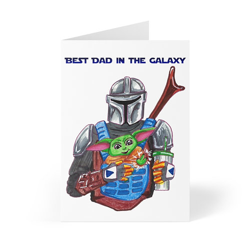 Best Dad in the Galaxy, Greeting Cards (8 pcs)
