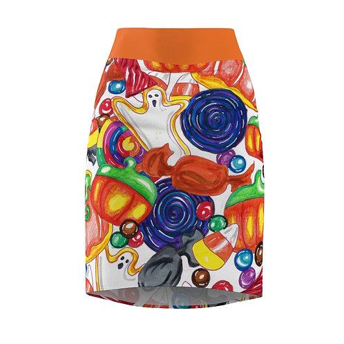 Halloween Candy, Women's Pencil Skirt