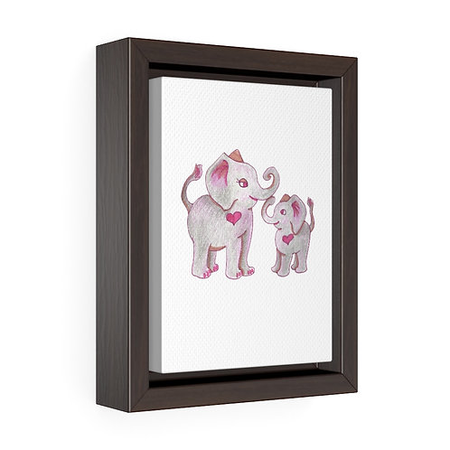 Mama Ella, Vertical Framed Premium Gallery Wrap Canvas