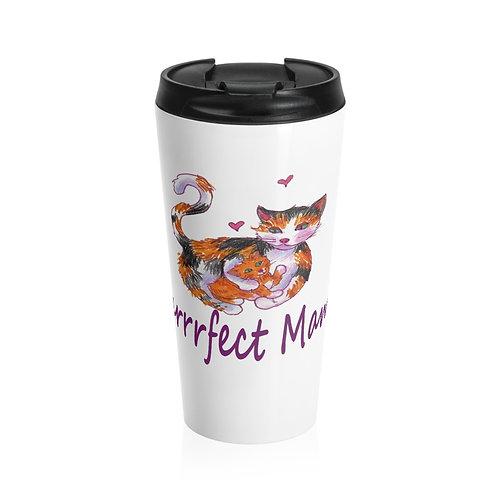 Cat Mama, Stainless Steel Travel Mug